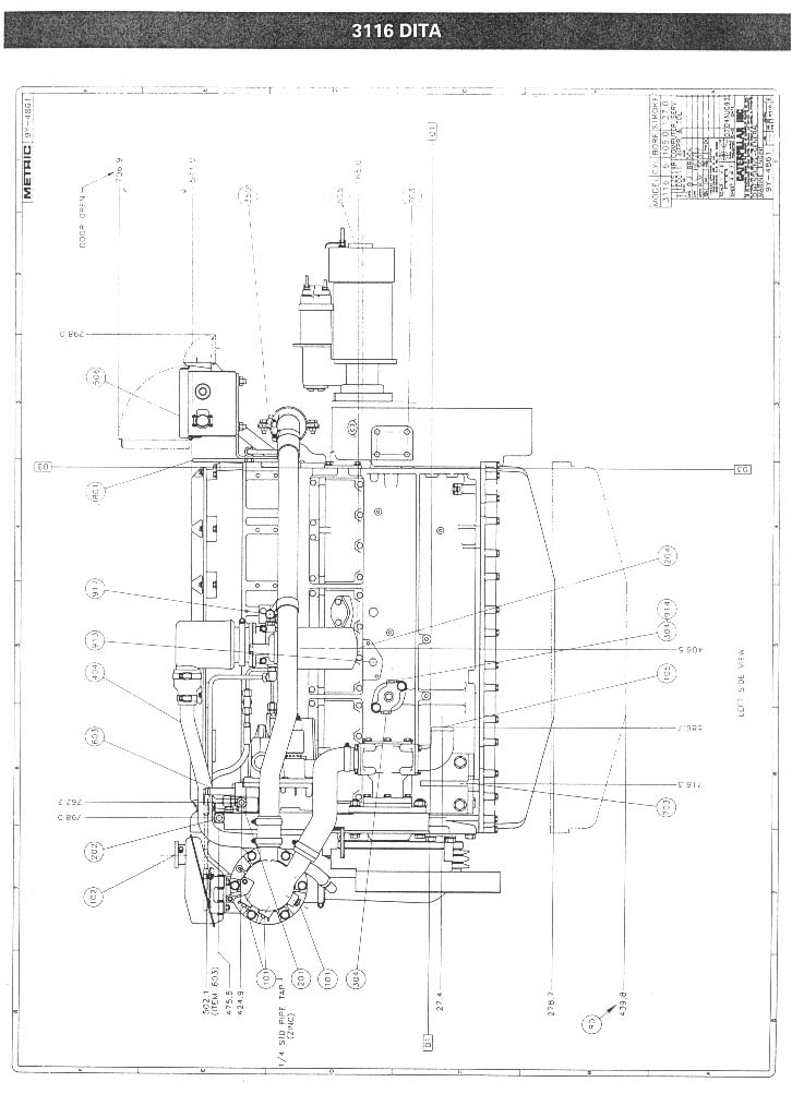 CAT 3116 Drawing 2 find the best diesel engine, transmission and generator brochures now!  at panicattacktreatment.co