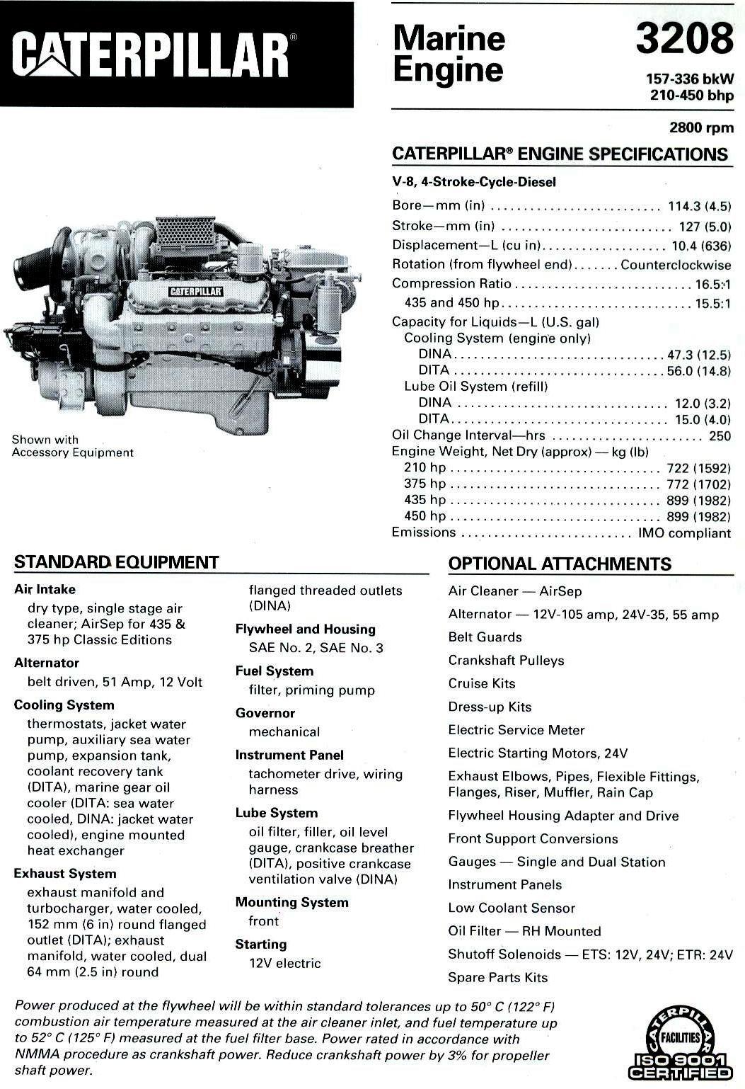 Find The Best Diesel Engine Transmission And Generator Brochures Now Series 53 Detroit Wiring Cat 3208 210 450 Hp Brochure Specification 1