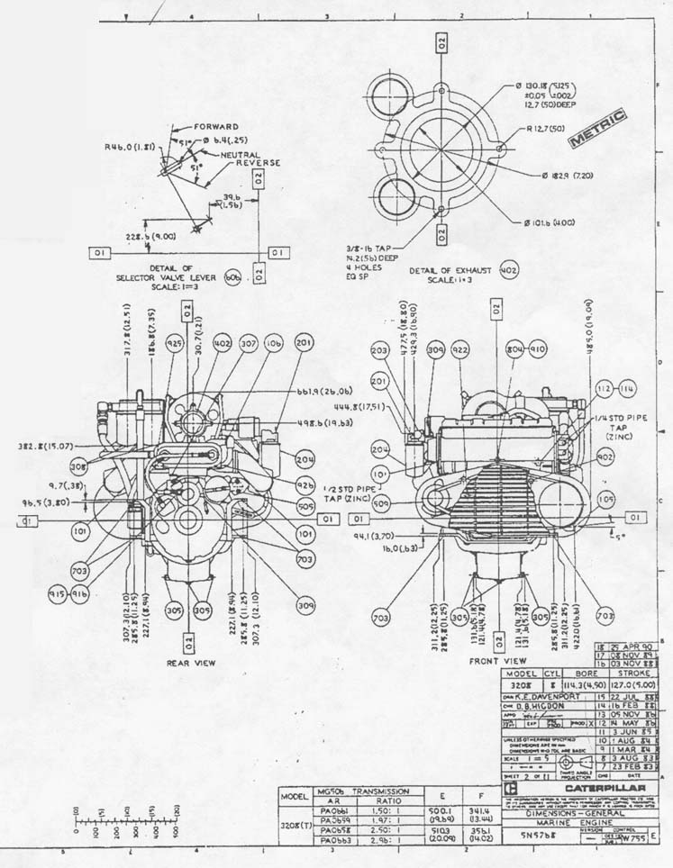 CAT 3208 Drawing 2 caterpillar 3208 marine engine wiring diagram caterpillar wiring  at fashall.co