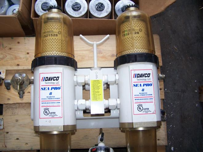Fuel Water Separator Filter >> Davco-Sea Pro Fuel Filters water separator System