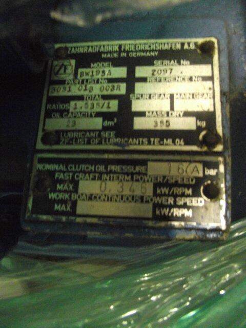 BW195A USED MARINE TRANS