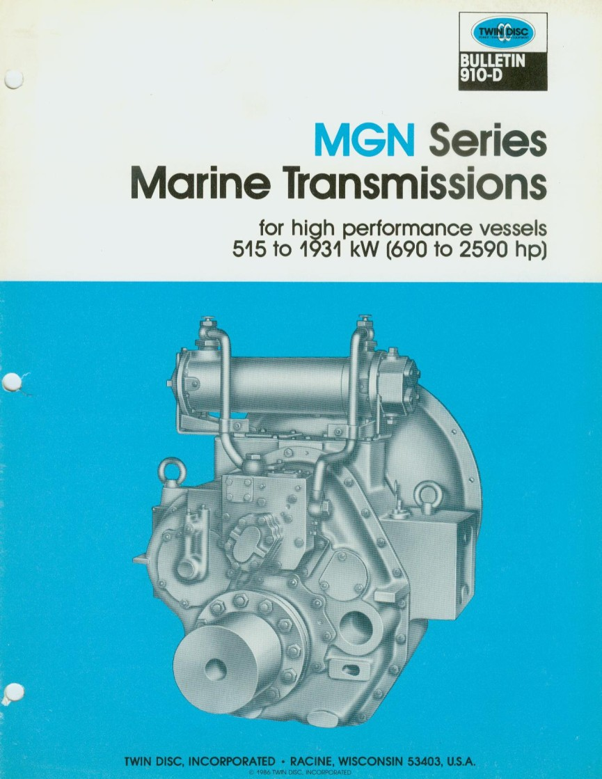 MGN332A  MGN 332X-2 USED MARINE TRANSMISSIONS