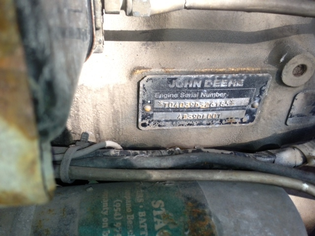 4 Cylinder compressor drive engine4D59DF007