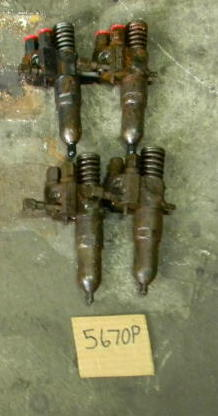 Used and core Injectors.