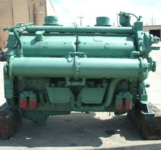 12V-149N pair marine engines with trans